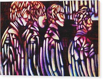 The Beatles Wood Print by Giuliano Cavallo