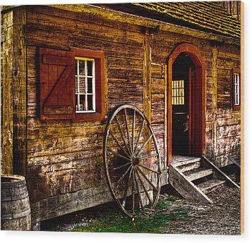 The Blacksmith Shop Wood Print by David Patterson
