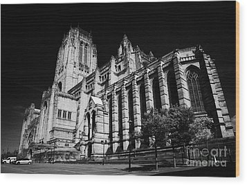 the Cathedral Church of Christ Liverpool Anglican Cathedral Merseyside England UK Wood Print by Joe Fox