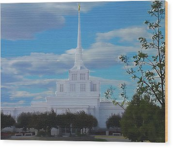 The Church Wood Print by Darrel Froman
