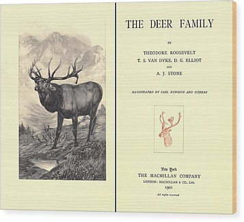 The Deer Family Was First Published Wood Print by Everett