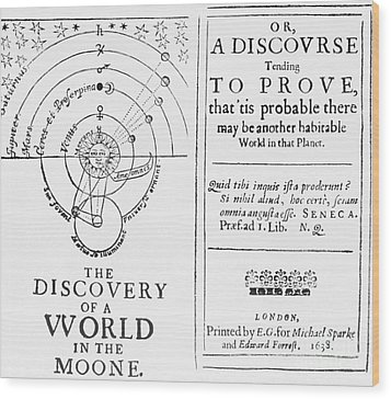 The Discovery Of A World In The Moone Wood Print by Science Source