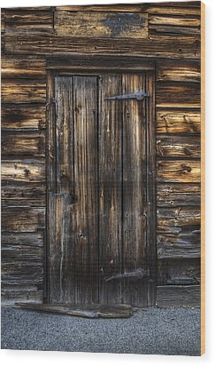 The Door Wood Print by Nick  Shirghio