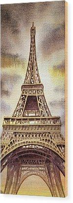 The Eiffel Tower  Wood Print by Irina Sztukowski