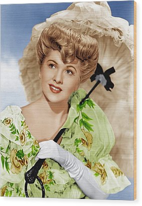 The Emperor Waltz, Joan Fontaine, 1948 Wood Print by Everett