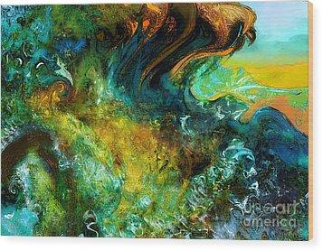 The Golden Wave  Wood Print by Anne Weirich