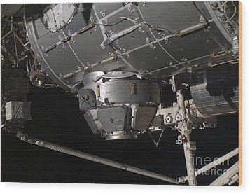 The International Space Stations Wood Print by Stocktrek Images