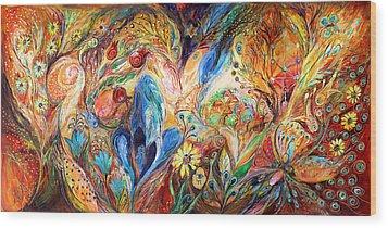 The Levitation Wood Print by Elena Kotliarker
