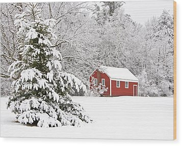 The Little Red School House Wood Print by Gordon Ripley