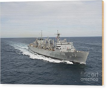 The Military Sealift Command Fast Wood Print by Stocktrek Images