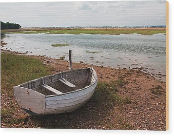The Old Boat Wood Print by Shirley Mitchell