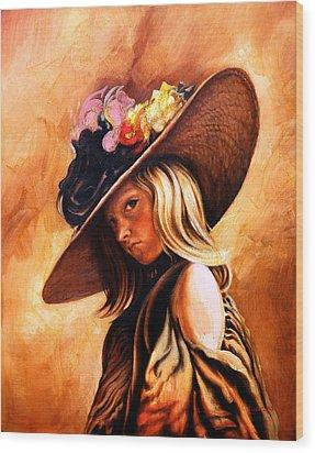 The Portrait Of A Girl Wood Print by Jivan Hovhannisian