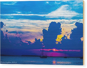 The Purple Sunset Wood Print
