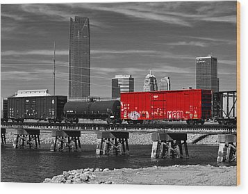 The Red Box Car Wood Print by Doug Long