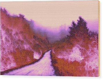 The Red Weed  Wood Print by Steve K