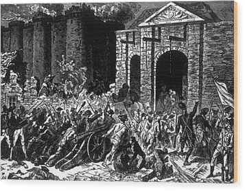 The Storming Of The Bastille, Paris Wood Print by Everett