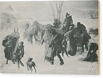 The Underground Railroad Wood Print by Photo Researchers