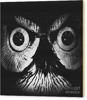 The Watcher Wood Print by Jayme X