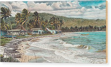 The Water Front   Wood Print by Gregory Jules