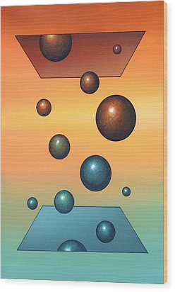 Thermodynamics, Conceptual Artwork Wood Print by Richard Bizley