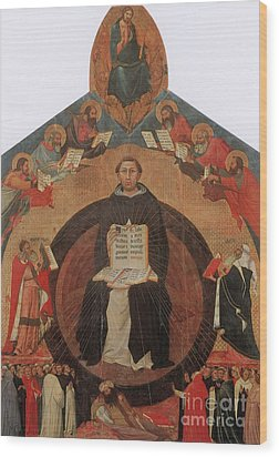 Thomas Aquinas, Italian Philosopher Wood Print by Photo Researchers