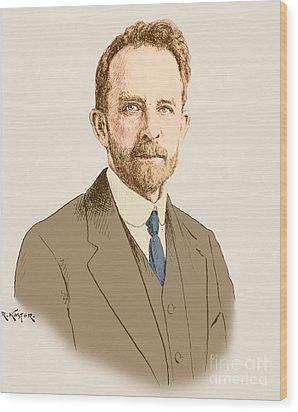 Thomas Hunt Morgan, American Geneticist Wood Print by Science Source