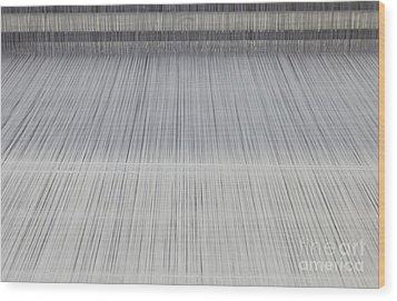 Threads In An Industrial Loom Wood Print by Magomed Magomedagaev