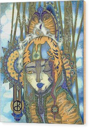 Time Wood Print by Ellie Perla