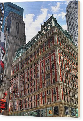 Times Square Wood Print by Joe Paniccia