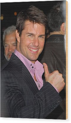 Tom Cruise At Arrivals For Mission Wood Print by Everett
