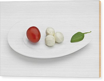 Tomato Mozzarella Wood Print by Joana Kruse