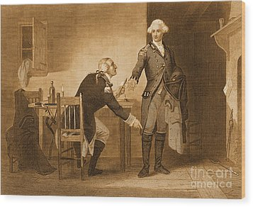Treason Of Benedict Arnold, 1780 Wood Print by Photo Researchers