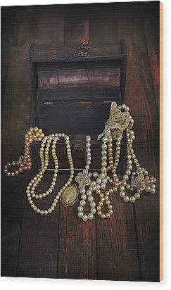 Treasure Chest Wood Print by Joana Kruse