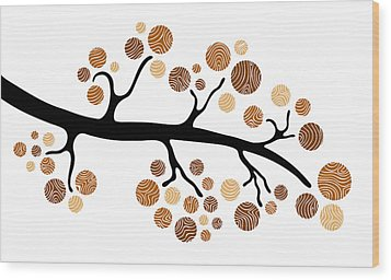Tree Branch Wood Print by Frank Tschakert