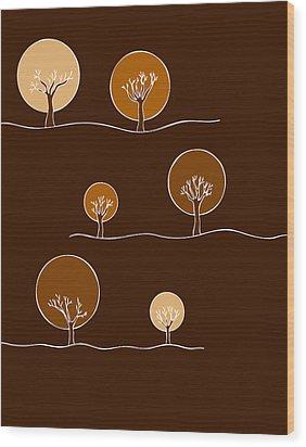 Trees Wood Print by Frank Tschakert