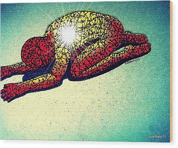Trying Expelling The Spirit Of Beings And Things Wood Print by Paulo Zerbato