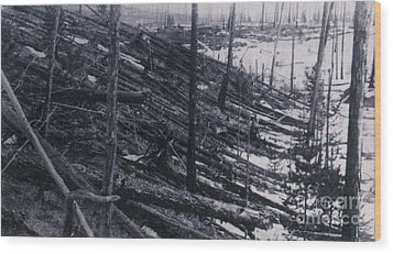 Tunguska Event, 1908 Wood Print by Science Source