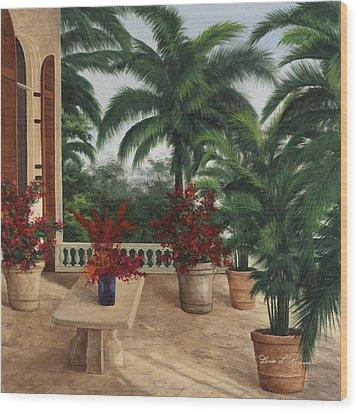 Tuscan Patio Wood Print
