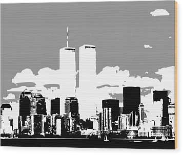 Twin Towers Bw3 Wood Print by Scott Kelley