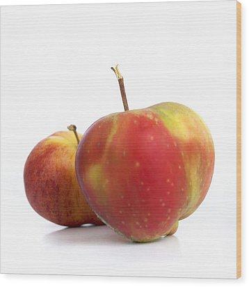 Two Apples. Wood Print by Bernard Jaubert