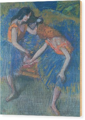 Two Dancers Wood Print by Edgar Degas