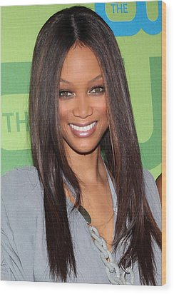 Tyra Banks At Arrivals For The Cw Wood Print by Everett