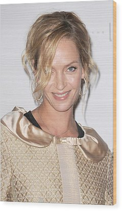Uma Thurman In Attendance For Friars Wood Print by Everett