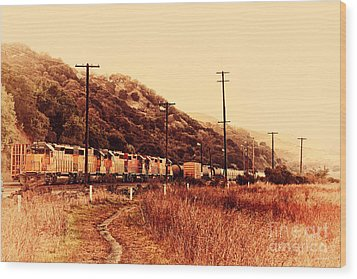Union Pacific Locomotive Trains . 7d10558 Wood Print by Wingsdomain Art and Photography