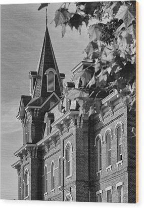 University Hall Wood Print by Coby Cooper