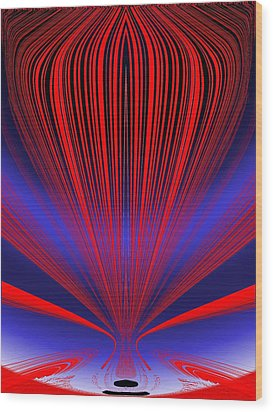 Up Up And Away Wood Print by Tim Allen