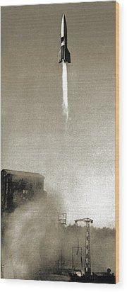 V-2 Prototype Rocket Launch, 1942 Wood Print by Detlev Van Ravenswaay