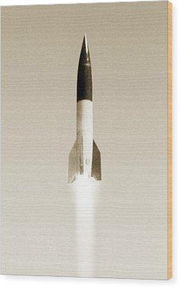 V-2 Rocket Wood Print by Detlev Van Ravenswaay