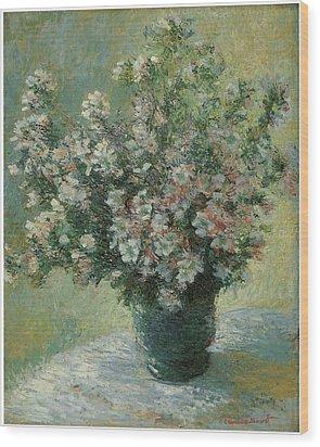Vase Of Flowers  Wood Print by Claude Monet
