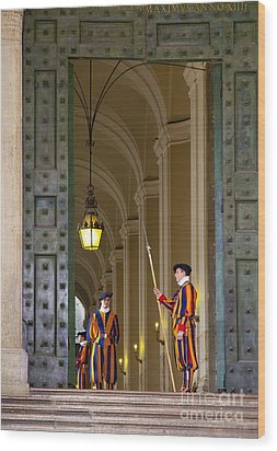 Vatican Entrance Wood Print by Brian Jannsen